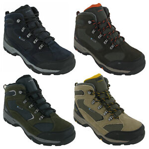 Hi-Tec Mens Storm Walking Boots Hiking Waterproof Leather Mesh Lace Up Trail