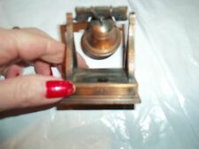 Liberty Bell 1753 Pencil Sharpener Copper Tone Die Cast Bell Rings 2.25