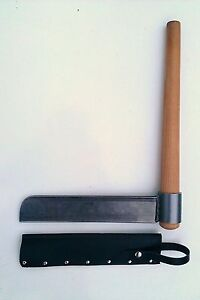 NEW! Ray Iles XL FROE & LEATHER SHEATH - cleaving axe, green woodworking tool.