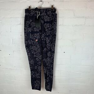 ACAI The Recycled Outdoor Leggings Navy Wild Print SMALL RRP£59