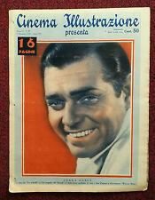 Cinema Illustrazione 1936 XI n° 49 Clark Gable     23/12