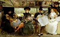 Bayswater Omnibus by Irish George Joy. Life Art Repro select Canvas or Paper
