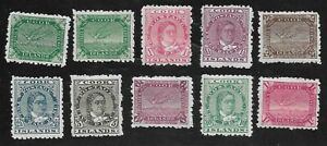 Cook Islands sg 28/36 plus sg 28a mounted mint cat £200 in 2015