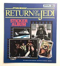 1 x TOPPs STAR WARS RETURN OF THE JEDI 1983 Empty Sticker Album