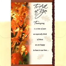 Happy Thanksgiving To All Of You Fall Leaves Greeting Card By American Greetings