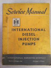 International Harvester DIESEL FUEL INJECTION PUMPS Service Repair Manual 1964
