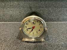 POTTERY BARN ~ Retro Style Battery Operated Desk/Table Clock ~ Metal ~