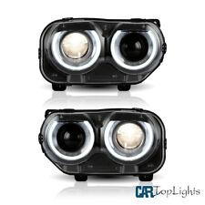 Vland LED Headlights Assembly Fit For Dodge Challenger SE R/T 2015-2018 DRL