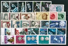 BULGARIA Space ASTRONAUTS (II) - lot of 6 complete sets (33 stamps) MNH