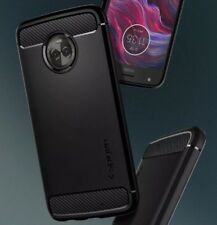 Custodia Spigen per Motorola MOTO X4 - Cover Rugged Armor Black Carbon Look NERO