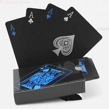 Schwarze Spielkarten Magiche Party Spiel Karten Set Plastik Poker Wasserdichte