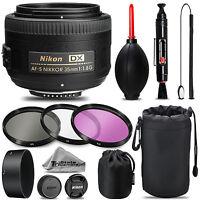 Nikon 35mm f/1.8G Lens + UV + FLD + CPL + Blower Brush +Lens Pen -Essential Kit