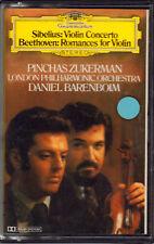 "SIBELIUS+BEETHOVEN+ZUKERMAN+BAREMBOIM "" MUSICASSETTA NUOVA DEUTSCHE GRAMMOPHON"