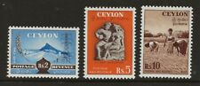 CEYLON  SG 428/30  TOP VALUES OF 1951/4 SET  SUPERB UNMOUNTED MINT