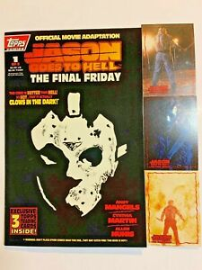 LOT OF 2 TOPPS COMICS JASON GOES TO HELL - #1 #2 - WITH CARDS NM-