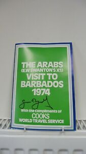 The Arabs (E.W.Swanton's XI) Visit To Barbados 1974 Signed by Geoffrey Boycott