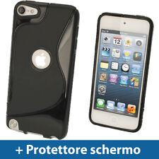 Nero Custodia TPU Gel per Apple iPod Touch 6ª 5ª Generazione 5G 6G Case Cover