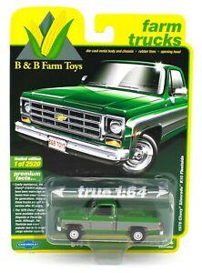 2020 AUTO WORLD 1:64 *B&B EX* GREEN & SILVER 1978 Chevy Silverado K10 Fleetside