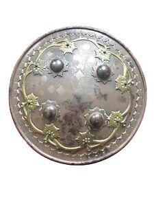 Late 18th Century Original Turkish Ottoman Islamic Buckler Shield VG Condition