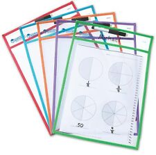 Learning Resources Wipe Clean Pockets pack of 5