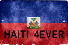 HAITI flag Sign 8 x 12 Patriot Emblem 4EVER Version