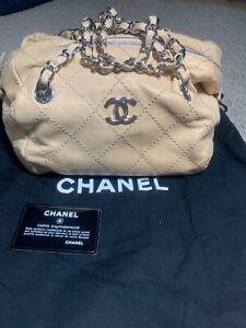 Chanel wild stitch chain tote shoulder bag