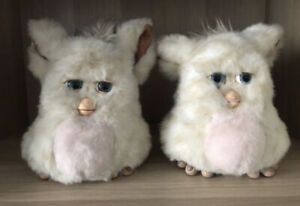 Furby Tiger Hasbro 59294 white pink blue eyes