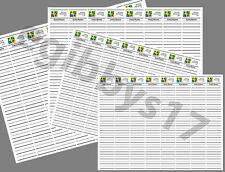 GeoCache Log Sheets - 4 Sizes - Print your Own!