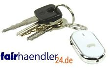 SCHLÜSSELFINDER mit LED LAMPE basic XL weiss PFEIFFEN Schlüsselanhänger Key NEU