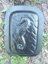 """Gostatue seahorse rain brick concrete plaster mold 9"""" x 6"""" x 2"""""""