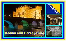 BOSNIA & HERZEGOVINA - SOUVENIR NOVELTY FRIDGE MAGNET - BRAND NEW - GIFT