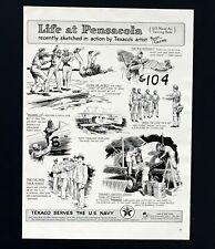1941 Texaco Advertisement US Naval air Training Base Pensacola Artwork Print AD
