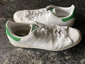 Size 12 - adidas Stan Smith Core White/Green 2014