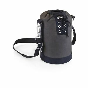 LEGACY - a Picnic Time Brand Canvas Lace-up Growler Tote, Gray