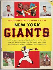 1955 Golden Stamp Book Of The San Francisco Giants Complete With 32 Stamps READ