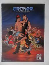 2011 Print Ad Archer Fox Cartoon TV Show Preview Promo