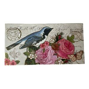Punch Studio Blue Bird Music Box with Rose Soap Plays Beethoven's Fur Elise