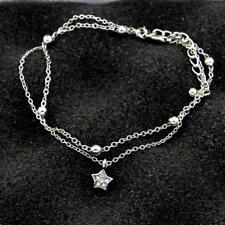 Lovely Peach Heart Anklet Women Jewelry New Beach Casual Trinket Foot Chain Li