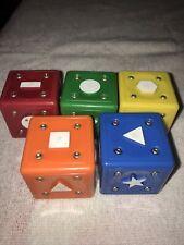 Set of 5 Neurosmith Music Blocks (5x Replacement Blocks/Cubes)