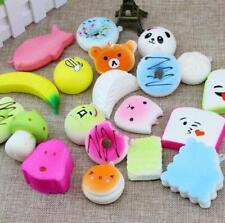 10pcs Lovely Cute Soft Random Squishy Bread/Panda/Cake/Buns Phone Straps Kit