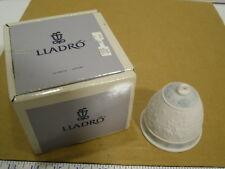 1992 Lladro Limited Production Porcelain Bisque Christmas Bell Ornament - Nib