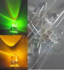S626 - 10 Stück Blink LED 5mm grün / gelb klar Flash Blinker Blinklicht Bi Color