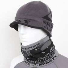 Sky Cap & Neck Gaiter Set Head Neck Face Full Mask Snowboard Ski Balaclava Hood