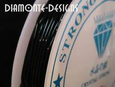 1 x 10m Black Elastic Stretch Thread 0.6mm Craft Thread Beading Kids Craft