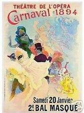 VINTAGE ART PRINT French THEATRE De L'OPERA 1894 Poster