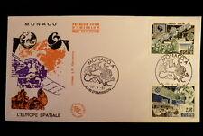 MONACO PREMIER JOUR FDC N° 1768/69   EUROPA,EUTELSAT,IMMARSAT   3,20+2,30F  1991