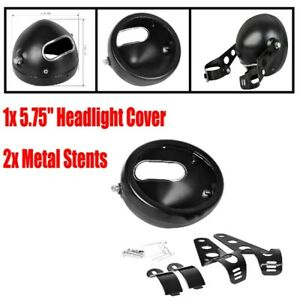 "5.75"" Motorcycle Headlight Fairing Retro Light Cover Lamp Mounting Stent Durable"
