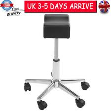 Height Adjustable Rolling Pedicure Salon Chair Seat Cushion Bar Stool Wheels UK