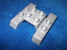 LEGO DUPLO SILBER KLEINE KUFEN FÜR FLUGZEUG PROPELLERFLUGZEUG HUBSCHRAUBER