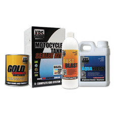 KBS Motorcycle Fuel Tank Sealer Repair Kit Rust and Corrosion Prevention Degreas